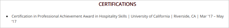 Hospitality-Resume-Blog-Certifications-1