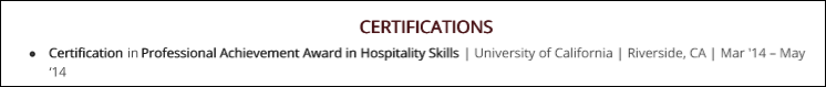 Hostess-Resume-Blog-Certifications