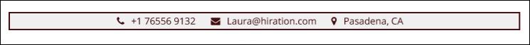 Hostess-Resume-Blog-Personal-Infomation
