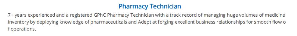 Pharmacy-technician-resume-summary