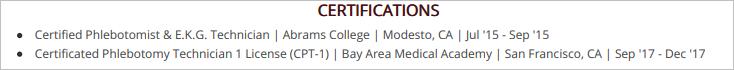 Phlebotomist-Resume-Certifications