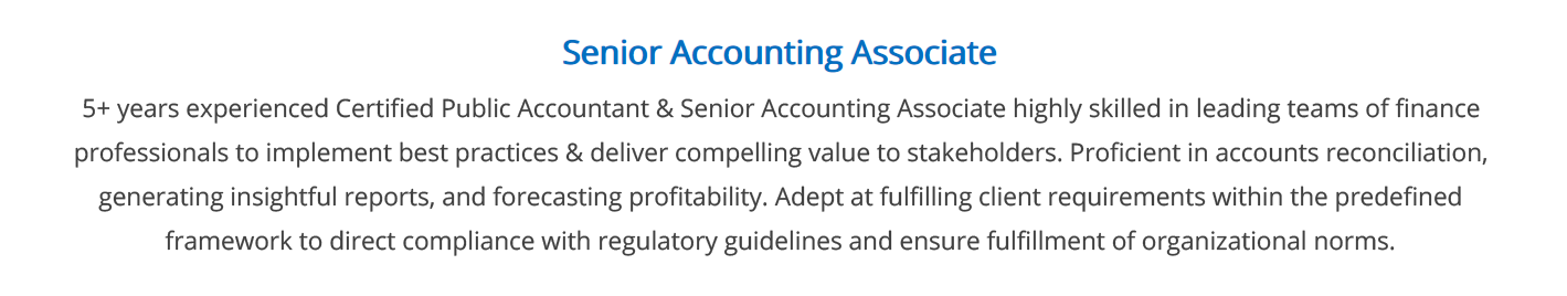 accounting-resume-summary