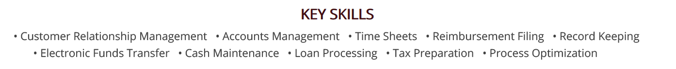 bank-teller-resume-key-skills