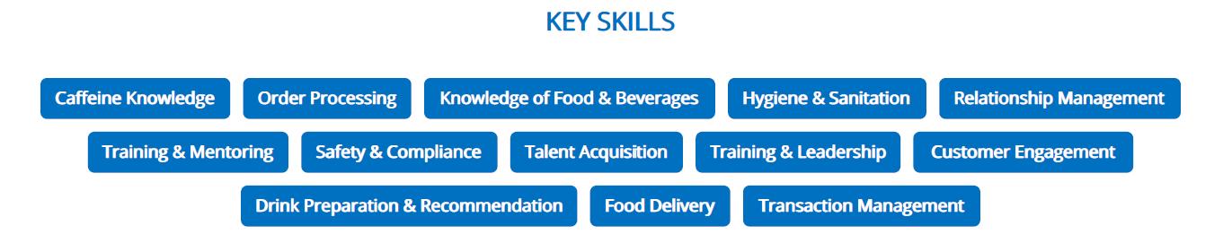 barista-resume-key-skills
