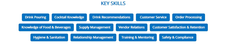 bartender-resume-key-skills