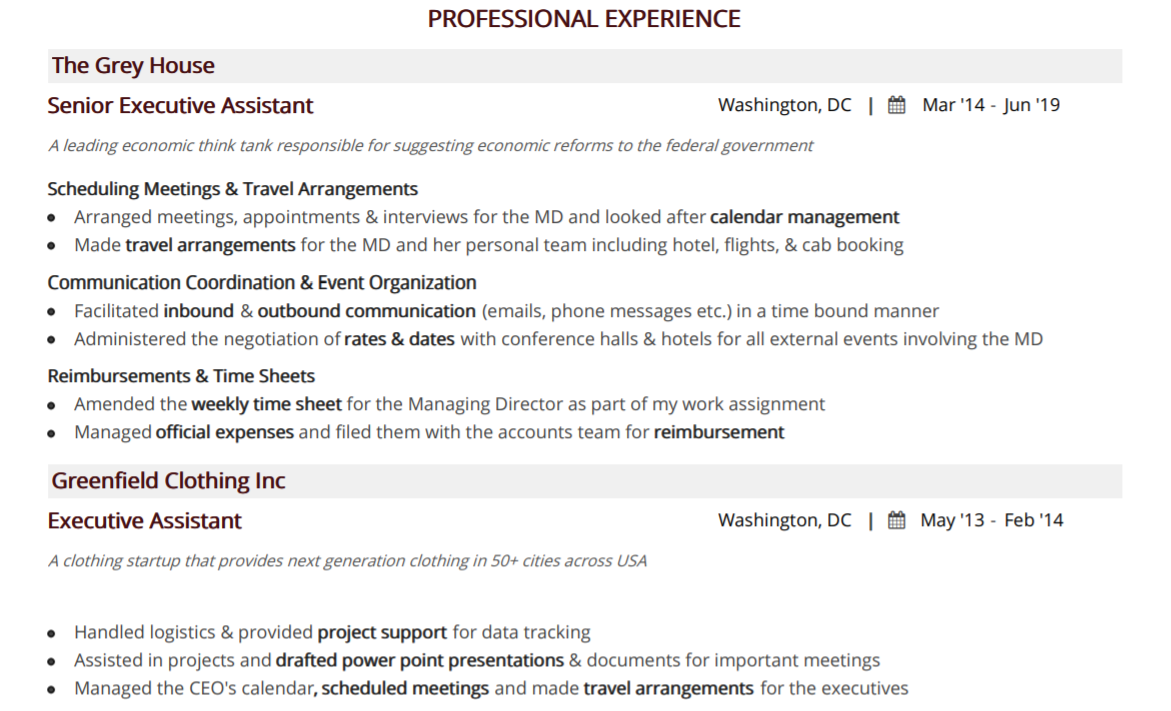 executive-assistant-resume-professional-experience-1
