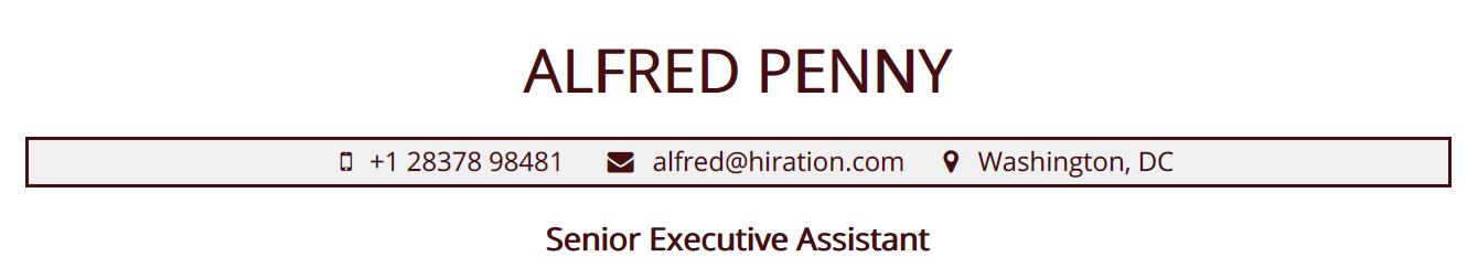 executive-assistant-resume-profile-title