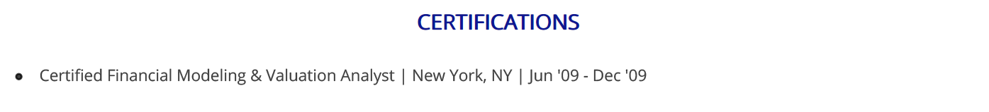 financial-analyst-resume-certifications