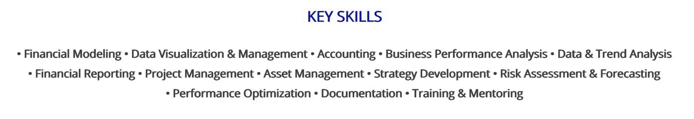 financial-analyst-resume-key-skills