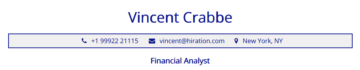 financial-analyst-resume-profile-title