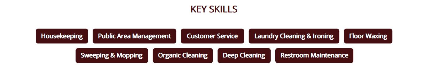 housekeeping-resume-key-skills