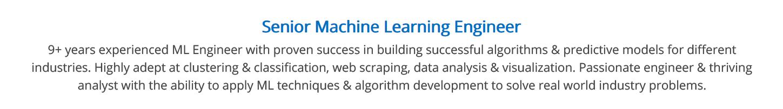machine-learning-resume-summary