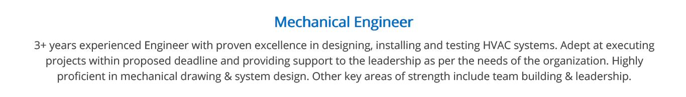 mechanical-engineering-resume-summary
