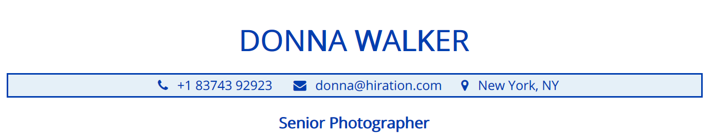 photographer-resume-profile-title