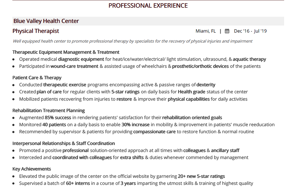 physical-therapy-resume-professional-experience-1