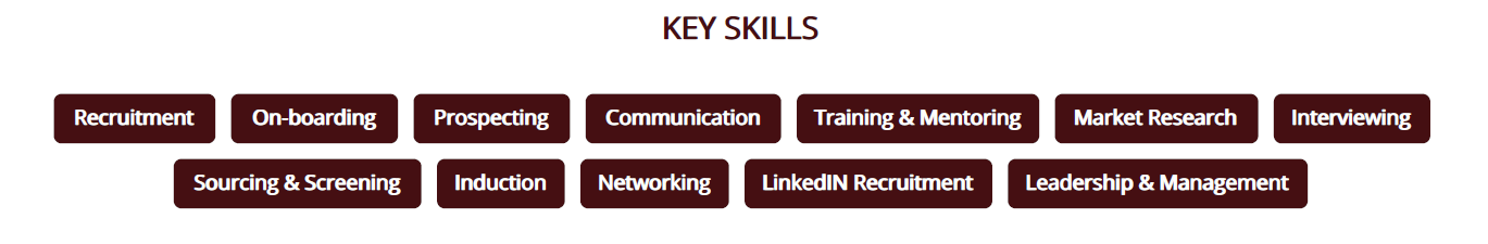 recruiter-resume-key-skills