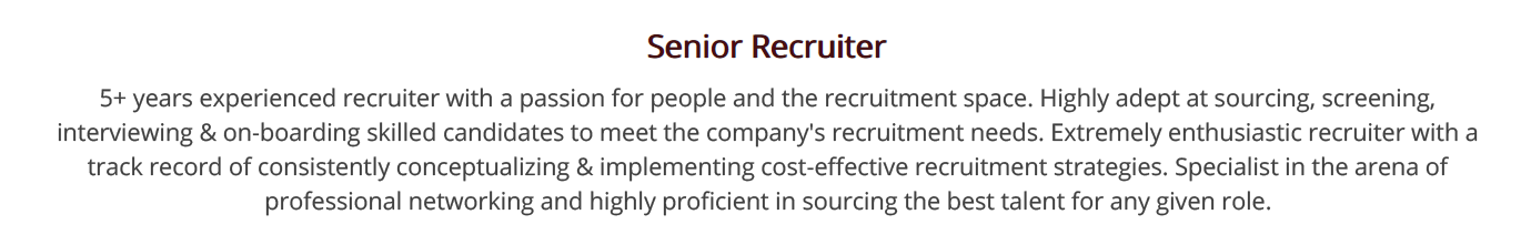 recruiter-resume-summary