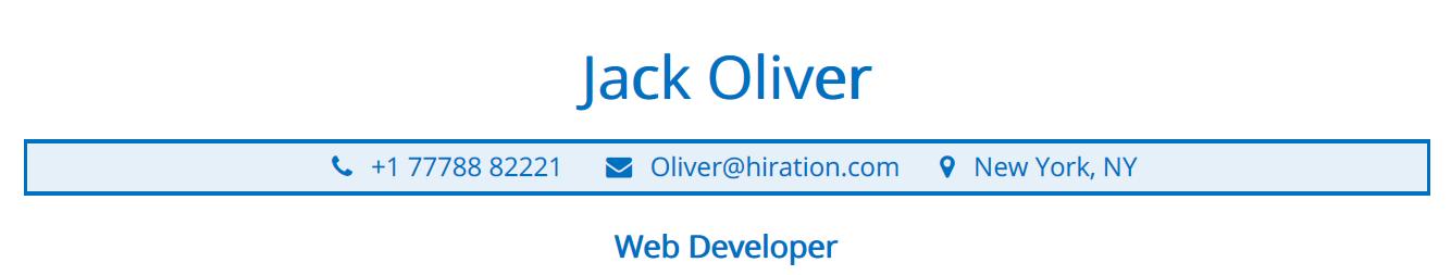 web-developer-resume-profile-title