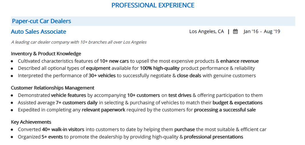 Car-Salesman-resume-professional-experience