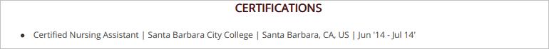 Caregiver-Certifications