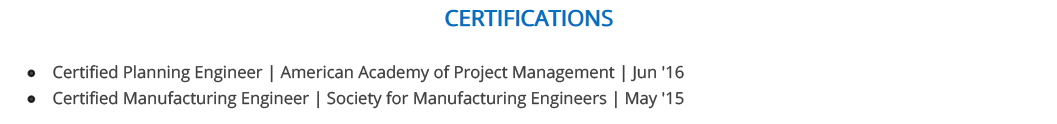 Civil-Engineer-resume-certification