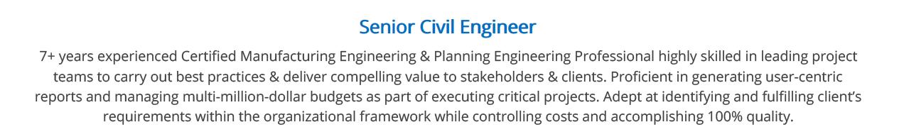 Civil Engineer Resume 2020 The Complete Sample