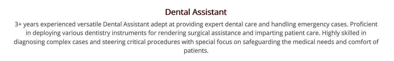 Dental Assistant Resume 2020 Guide With 10 Examples
