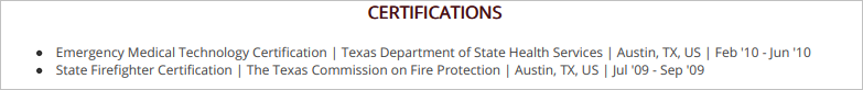 Firefighter-Certifications