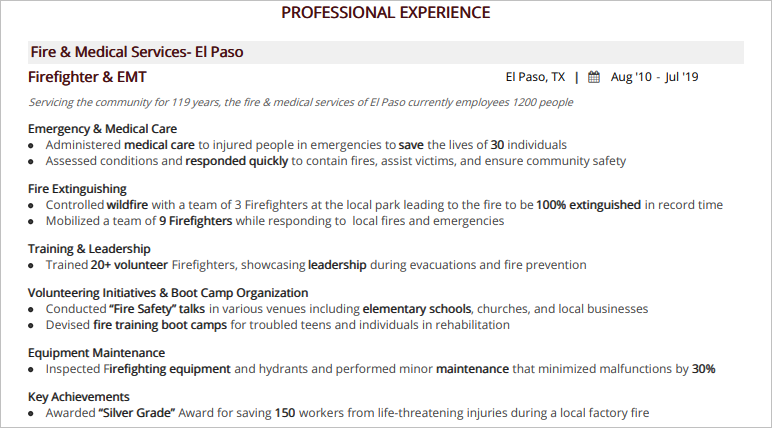 Firefighter-Professional-Experience