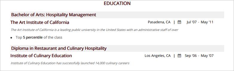 Hstess-Education