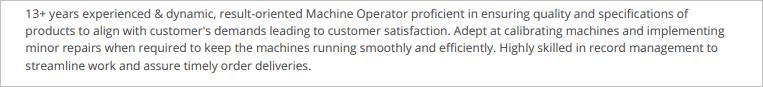 Machine-Operator-Summary