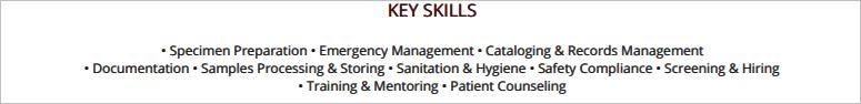 Phlebotomist-Resume-Key-Skills