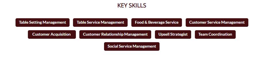 Waiter-resume-key-skills