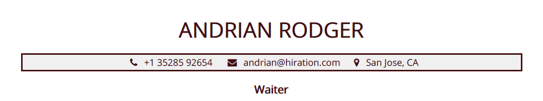 Waiter-resume-profile-title
