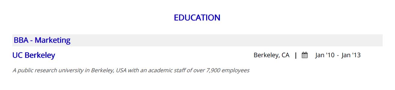 call-center-resume-education