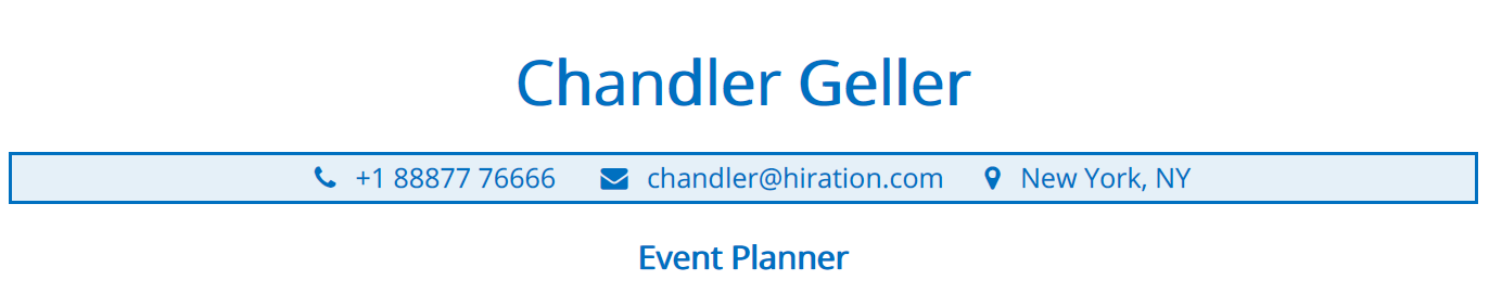 event-planner-resume-profile-title