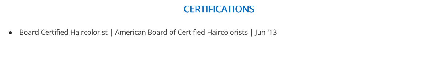 hair-stylist-resume-certifications
