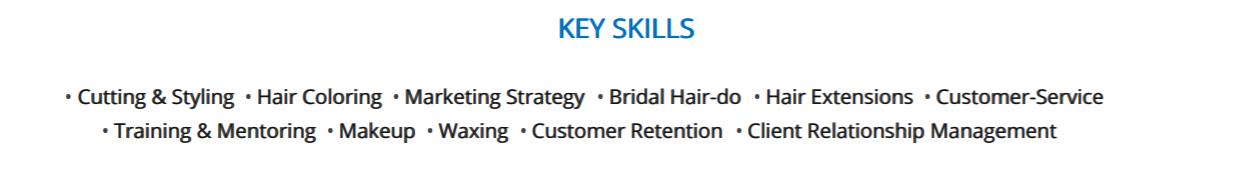 hair-stylist-resume-key-skills