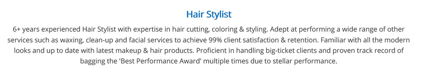 hair-stylist-resume-summary