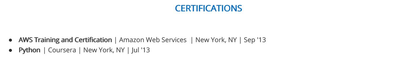 it-resume-certifications