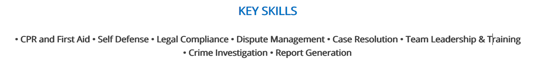 police-officer-resume-key-skills