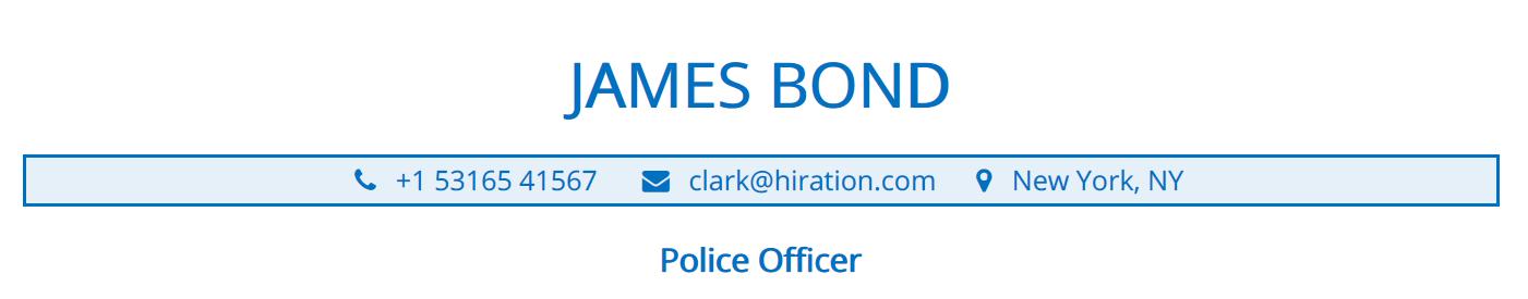 police-officer-resume-profile-title