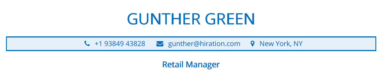 retail-resume-profile-title