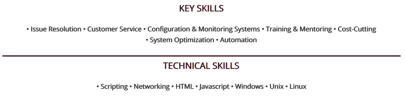 system-administrator-resume-key-skills