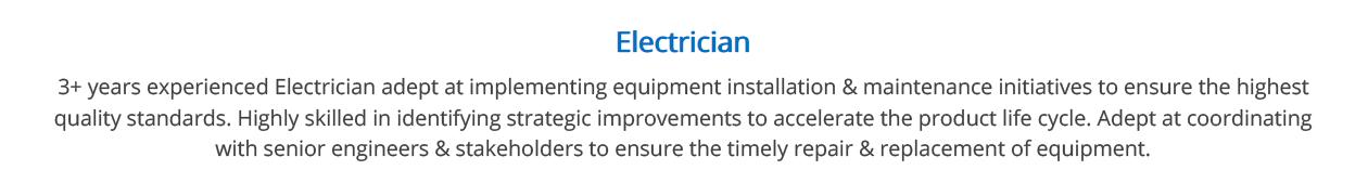 Electrician-Resume-Summary