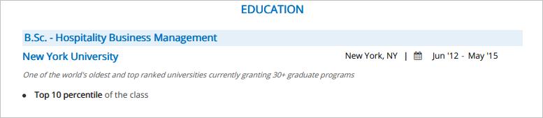 Front-Desk-Resume-Education