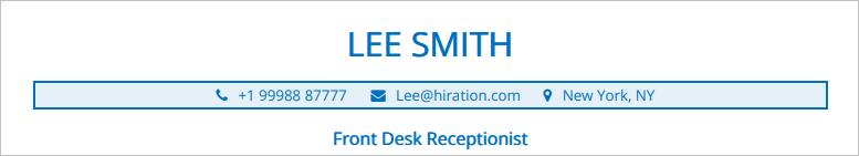 Front-Desk-Resume-Profile-Title