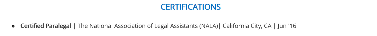 Paralegal-Resume-Certifications