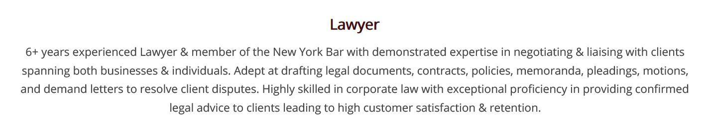 legal-resume-summary
