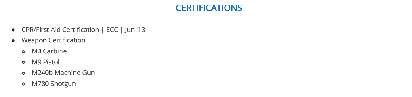 military-resume-certifications